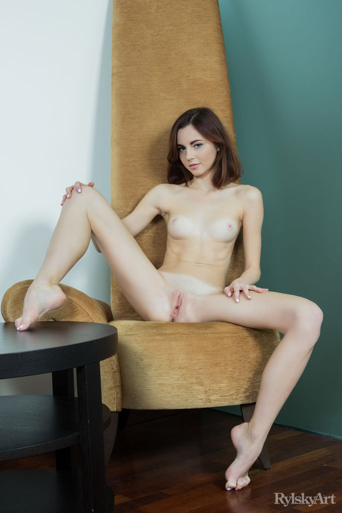 Naked girls with their legs wide open
