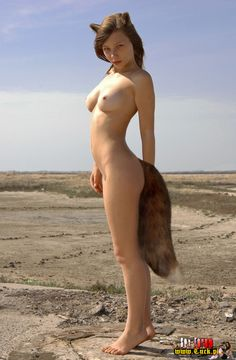 Nude girls with buttplug tails
