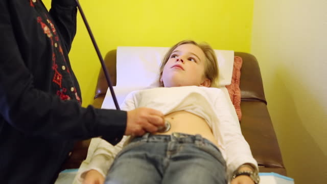 Very young little girls medical exam